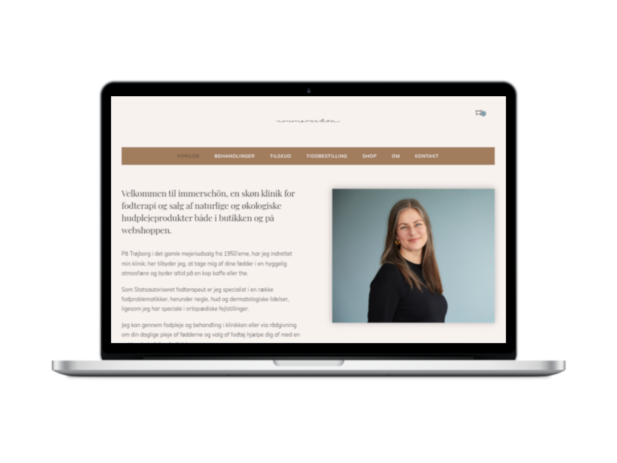 Ny hjemmeside til fodterapeut