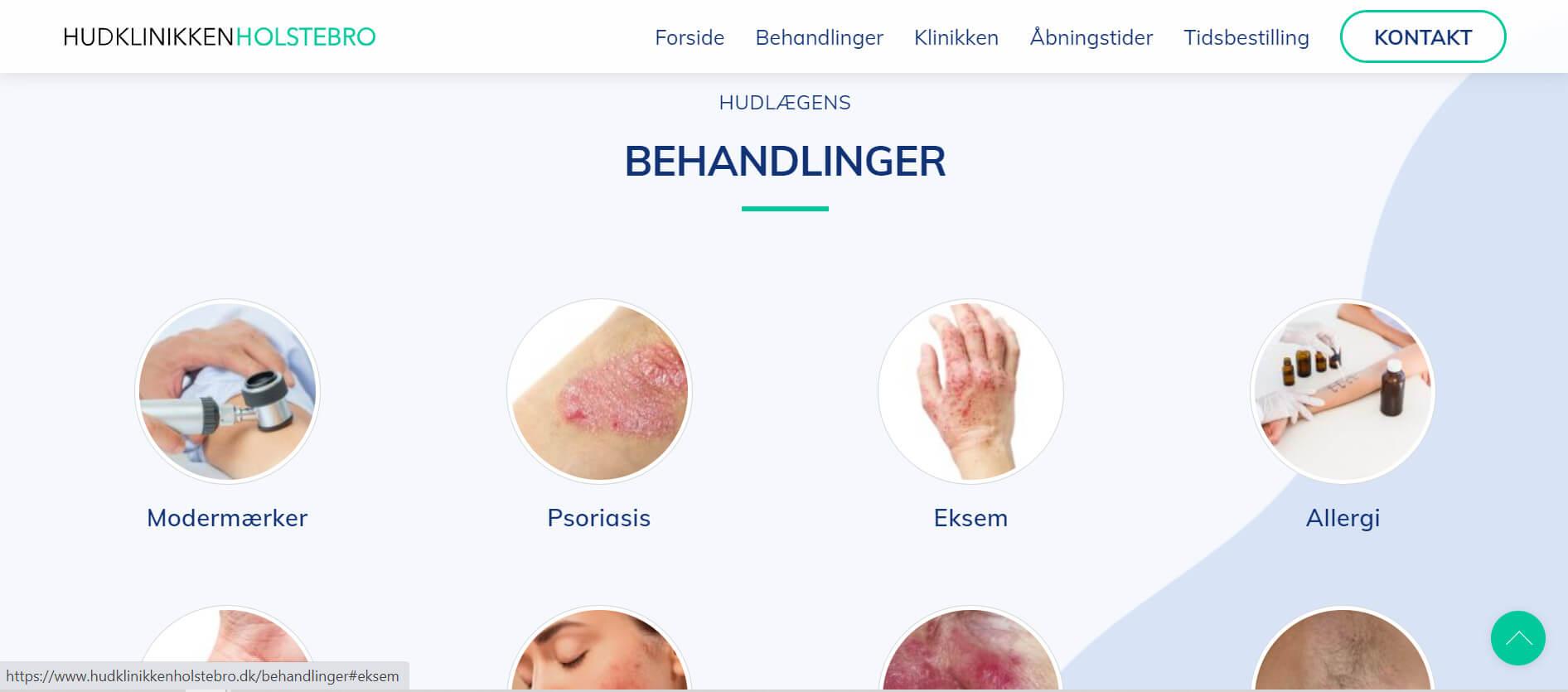 Website til hudlæge / hudklinik